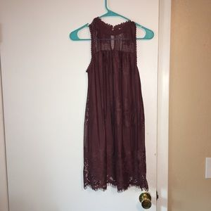 Gorgeous lace dress in dusty rose color